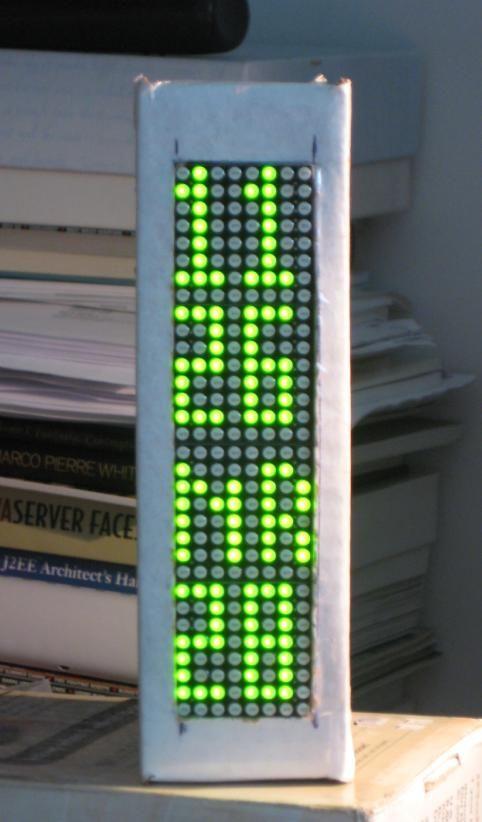 BookClock - Arduino-basierte Uhr in einem Karton