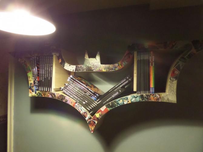 Wie man ein BAT-Bücherregal machen