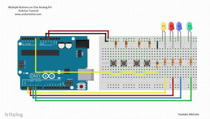 Gewusst wie: Mehrfache Tasten am 1. Analog Pin - Arduino Tutorial
