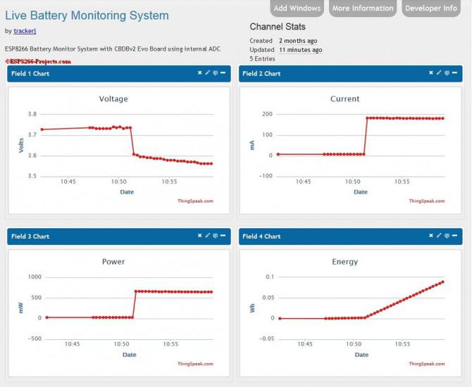 WIFI Battery Monitor System - ESP8266
