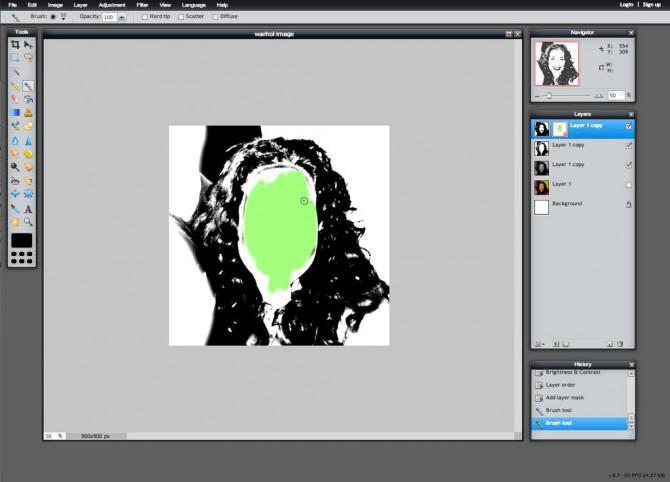 Erstellen Sie ein Andy Warhol-Art-Karte