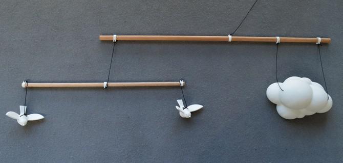 """Machen Sie eine """"Birds Mobile"""" für Ihr Kind"""
