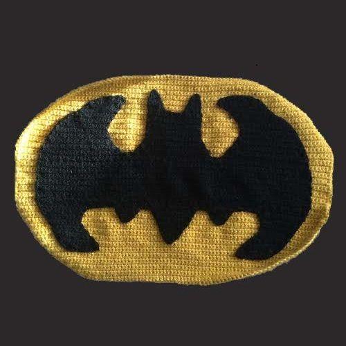 Wie Sie das Batman Symbol häkeln
