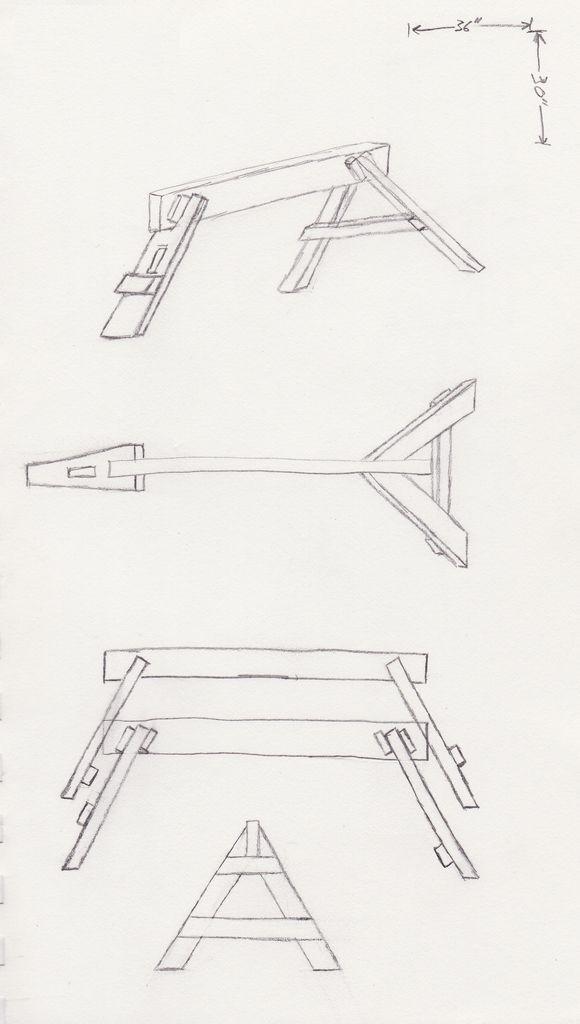 Dreibein Knock-Down-Sägebock