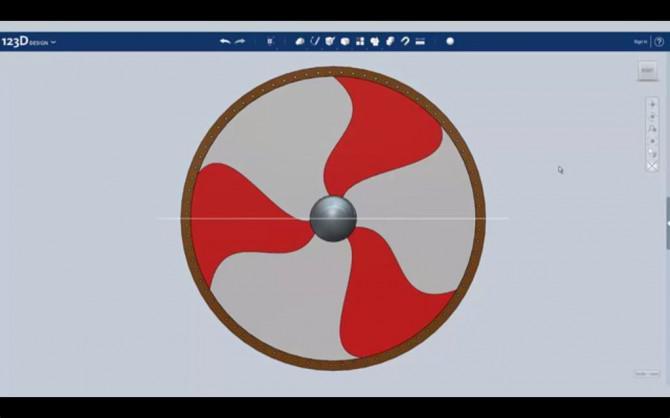 Entwerfen Sie eine Viking-Schild mit Autodesk 123D Entwurf