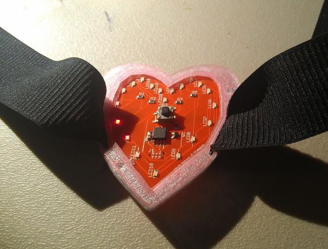 Wie man ein charlieplexed LED Herz machen